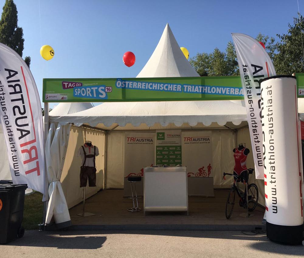 ÖTRV informierte am Tag des Sport über den Triathlonsport