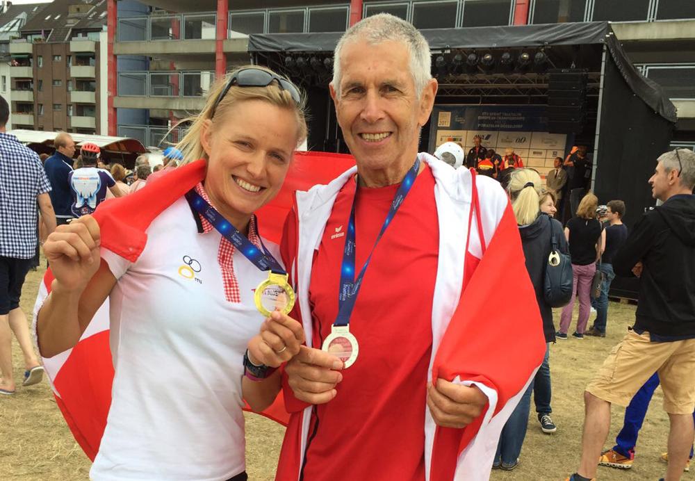 EM-Gold und Silber für Altersklassenathleten in Düsseldorf