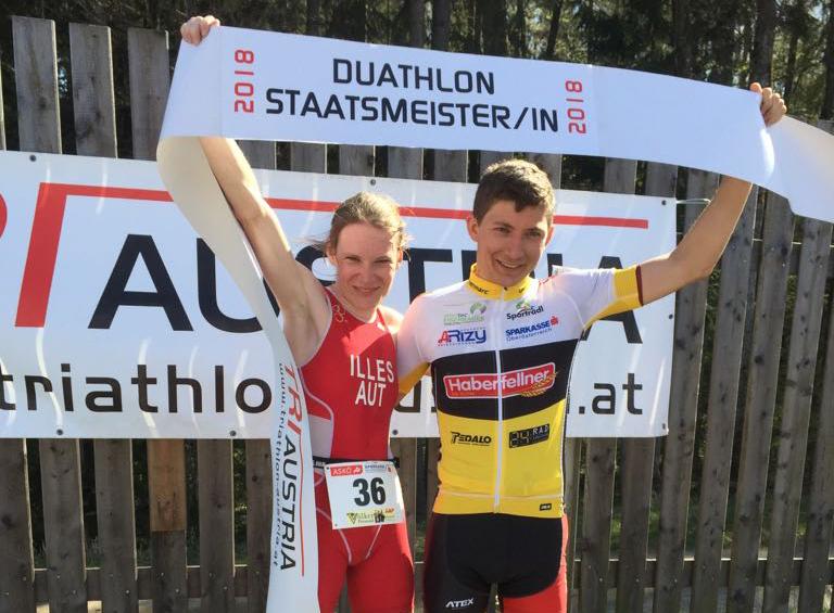 Illes und Silberbauer holen sich Duathlon Staatsmeistertitel