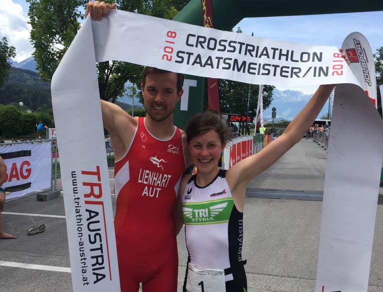 Aichner und Lienhart holen sich Crosstriathlon-Staatsmeistertitel