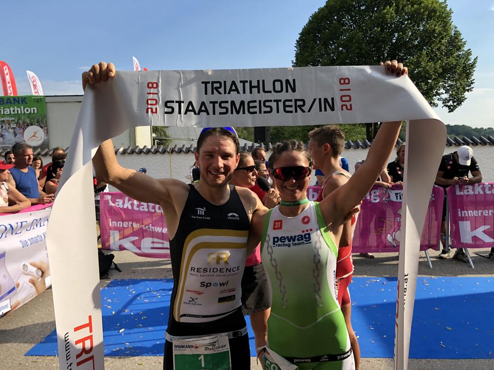 Weiß und Wihlidal küren sich zu Staatsmeister auf Olympischen Distanz