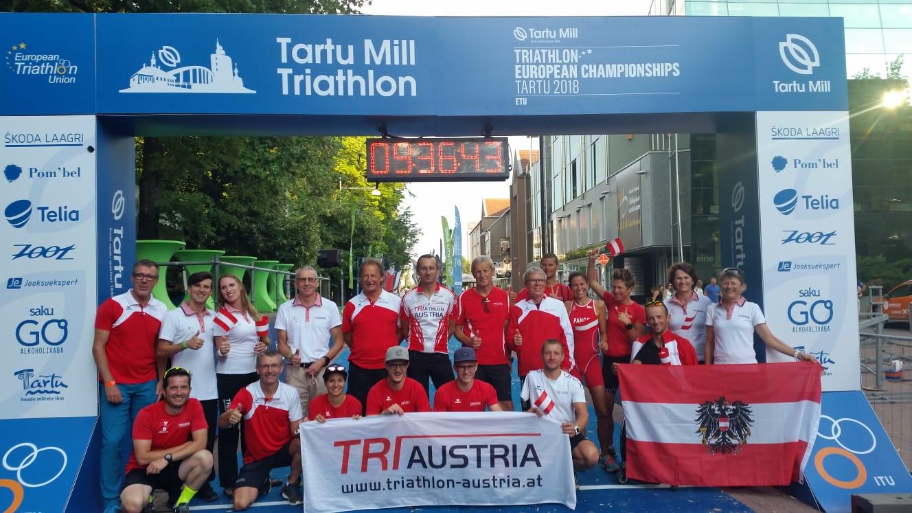 27 Age Group Athleten bei Kurzdistanz-EM