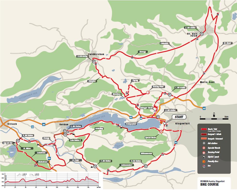 Die neue Streckenführung des IRONMAN Austria-Kärnten
