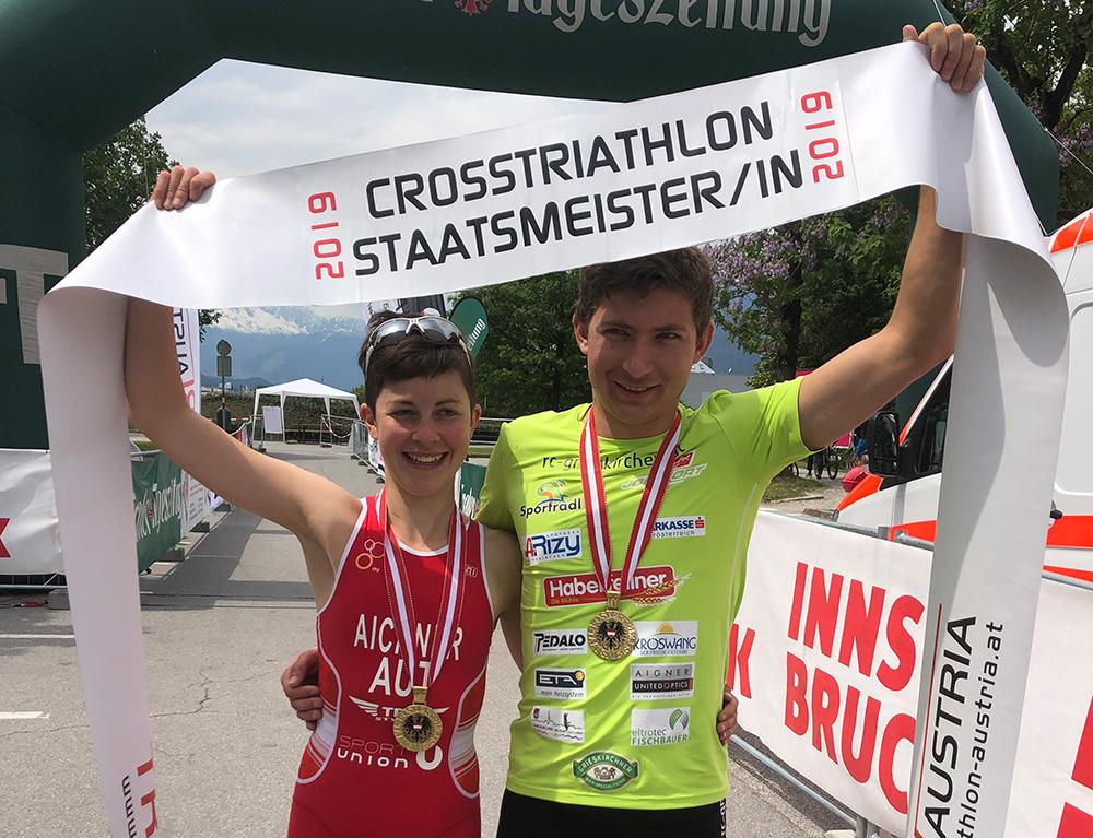 Aichner und Silberbauer holen Crosstriathlon-Staatsmeistertitel