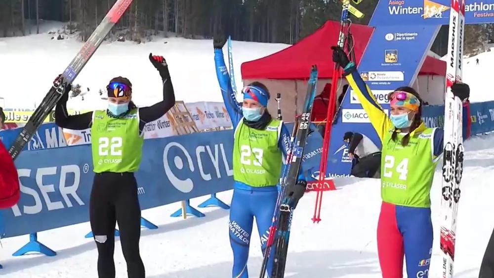 Slavinec Zweite bei Wintertriathlon Cup